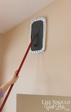 Ho To Mop and Wash Your Wash Walls. This time-saving tip will save you a ton of time AND headache. It's especially helpful if you have tall walls or vaulted ceilings