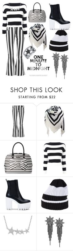 """""""B&W New Years"""" by nerd-muffin ❤ liked on Polyvore featuring Marques'Almeida, Kenneth Cole Reaction, Boutique Moschino, STELLA McCARTNEY, White Mountaineering, Ana De Costa and Bling Jewelry"""