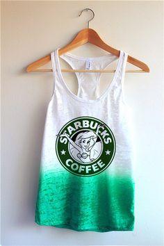 The Little Mermaid Starbucks Tie Dye Tank Top from Yotta Kilo. Saved to Epic Wishlist. Disney Outfits, Outfits For Teens, Cool Outfits, Starbucks Shirt, Disney Starbucks, Boutique, Cute Tops, The Little Mermaid, Athletic Tank Tops