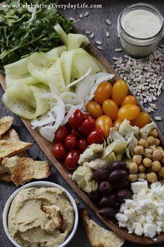 Mediterranean Greek Salad Recipe from Celebrating Everyday Life (http://celebratingeverydaylife.com)