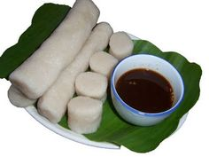 Pempek usually is accompanied with Cuka (a kind of vinegar for Pempek)