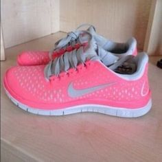 ✨Pink Nike Free 3.0✨ Used, but still have a ton of life left in them! A few dirt marks, bye can be washed. Awesome condition! Bought these off of here, but sadly I need a size 7 :( 100% authentic! Size 6.5.   I will trade for  other Nike frees in size 7! Use offer button!✨ Nike Shoes Athletic Shoes