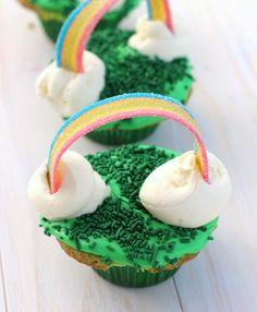 Lucky Rainbow Cupcakes | Babble