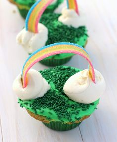 St. Patricks Day DESSERTS:               St. Patricks Day Recipe: Get Lucky with these Easy Rainbow Cupcakes