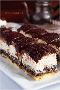 Fudge Recipes, Cookie Recipes, Dessert Recipes, Polish Recipes, Food Cakes, Cookie Desserts, Tray Bakes, Yummy Cakes, Cake Cookies