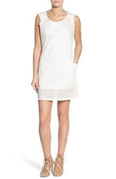 Plenty by Tracy Reese Raw Edge Eyelet Shift Dress available at #Nordstrom