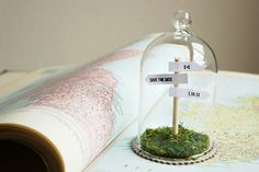 """Signpost Save the Dates - or """"past present future"""""""