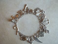 Charms of a Witch Bracelet by CellDara on Etsy