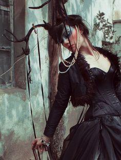 goth dark witchy animal lady