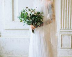 Gloria / longues manches robe de mariée / mariage robe /