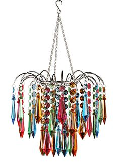 Gypsy color 4 arm multi color small acrylic crystal for Plastic chandeliers for parties