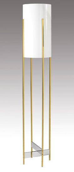Paul Mayen; Brass, Glass and Plastic Floor Lamp, c1970.