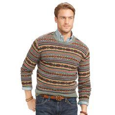 Fair Isle Merino Wool Sweater - Crewneck Jumpers - Ralph Lauren France
