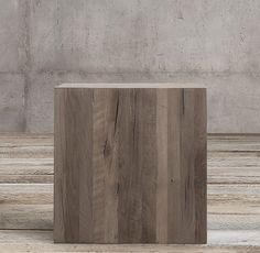 On Sale Reclaimed Russian Oak Parsons Cube
