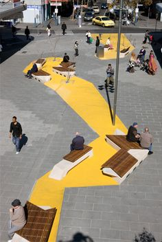 HASSELL | Projects - Nicholson Street Mall Interesting concept, how cheap paint can transform space