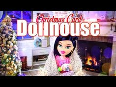 DIY - How to Make: Christmas Card Dollhouse - EASY Holiday Gift Ideas - Doll Craft - 4K - YouTube