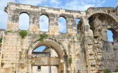 The silver gate of the UNESCO listed Palace built by the ancient roman emperor Diocletian, in Split