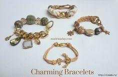 Charming-Statement-Bracelets cuero tutorial