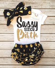 Sassy Since Birth Bodysuit Sassy Baby Girl Bodysuits Sassy Shirts - BellaPiccoli - Great Baby Clothes Cute Baby Girl, Baby Love, Cute Babies, Baby Kids, Sassy Girl, Baby Outfits, Kids Outfits, Baby Girl Fashion, Fashion Kids