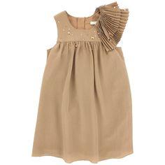 Hazelnut silk muslin dress Brown