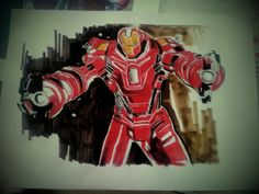 My latest marker rendering-iron man3