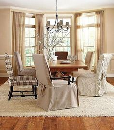 Sure Fit Slipcovers Stretch Ironworks Short Dining Chair Covers ...