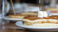 Dennys New Pancake Recipe.Denny's New Pancakes Come With A Pitcher Of Dulce De Leche. Low Carb Soup Recipes, Gluten Free Recipes For Dinner, Mexican Food Recipes, Keto Recipes, Dinner Recipes, Summer Appetizer Recipes, Jello Dessert Recipes, Denny's Pancake Recipe, Breaded Cod