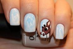 Best Nail Art Ideas. Christmas. Rudolph.