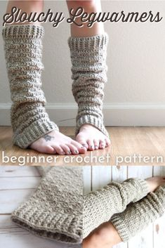 Learn to crochet with these beautifully textured crocheted legwarmers. Stunning and simple pattern, easy and quick to make. #easycrochetpattern #beginnercrochetpattern #legwarmers #legwarmerpattern #beginnerlegwarmers #learntocrochet #yarn #crafts #SigoniMacaroni #craftevangelist Crochet Leg Warmers, Crochet Socks, Crochet Gloves, Knit Crochet, Crochet Skirt Pattern, Crochet Poncho Patterns, Knitting Patterns, Easy Beginner Crochet Patterns, Crochet For Beginners