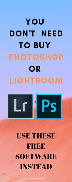 Don't buy photoshop or lightroom and use these free software If you do not wish to spend money on Photo editing software subscriptions. Use these free alternatives to Photoshop and Lightroom! Photoshop For Photographers, Photoshop Photos, Photoshop Photography, Photoshop Tutorial, Photoshop Actions, Photography Backgrounds, Photoshop Design, Photography Software, Hacks