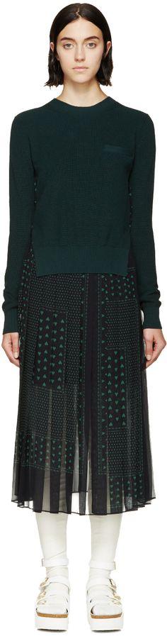 Sacai Luck: Evergreen Two-Piece Sweater Dress
