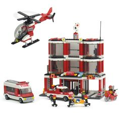 66.92$  Buy now - http://alirxe.worldwells.pw/go.php?t=32706567002 - Designers children educational toys for children fight inserted plastic building blocks Fire Center Fire Station Gift for child