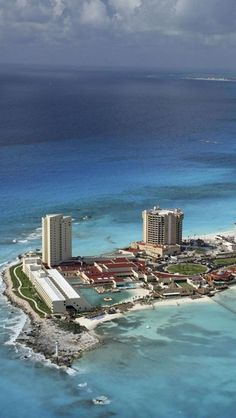 Cancun, Mexico - One of my favorite places ever! This spot is actually right where we got married! Dreams Resort in Cancun!