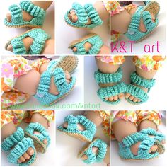 """The difference is in the details"": Baby crochet sandals - free crochet pattern Crochet Sandals Free, Crochet Boots, Crochet Baby Booties, Crochet Slippers, Diy Crochet, Crochet Sole, Simple Crochet, Crochet Things, Baby Dress Tutorials"