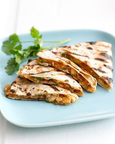 grilled BBQ onion and smoked gouda quesadillas...these are screaming for some fresh peach salsa, too!