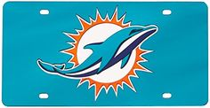 NFL Miami Dolphins Laser Cut Auto Tag * You can find more details by visiting the image link.