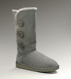UGG Bailey Button Triplet 1873 Grey For Sale In UGG Outlet Save more than $100, Free Shipping, Free Tax, Door to door delivery