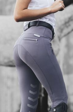 Aztec Diamond Equestrian's Scarlett breeches in steel- love this brand and their gorgeous riding and competition wear.
