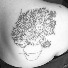 Van Gogh Sunflowers for @charmingchelsea1996 For an appointment or consultation Email me  agedragotattoo@gmail.com #agetattoo (at Tempe, Arizona)
