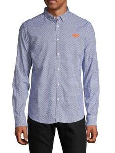 Superdry Geometric-print Long-sleeve Shirt In Constellation Superdry Mens, Constellations, Long Sleeve Shirts, Mens Fashion, Mens Tops, Clothes, Shopping, Style, Man Fashion