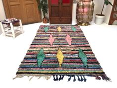 Door mar berber Small carpet 3x6 Vintage Azilal Boucherouite, Vintage Wool Carpet, Vintage Deco, Hand Woven Rug.The Serpent's Daughter by Suzanne Arruda. Third-2008. A Jade del Cameron Mystery.