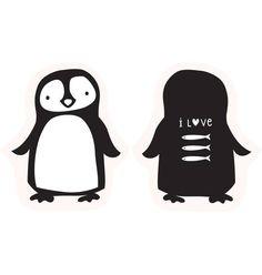 A Little Lovely Company Tweezijdig Kussen Pinguin