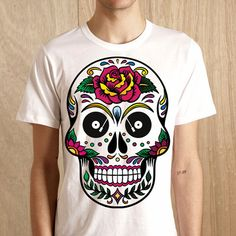 Los Muertos Rose - Guys T-shirt Fox, Guys, Summer, Mens Tops, T Shirt, Fashion, Supreme T Shirt, Moda, Summer Time