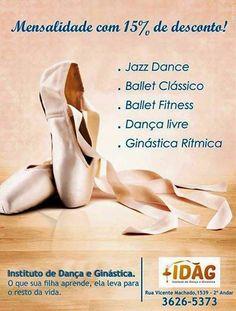 Promoção #Ballet  #JazzDance #GinásticaRítmica #DançaLivre somente até 15/02