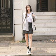 #envylook Zip Up Sheath Skirt #koreanfashion #koreanstyle #kfashion #kstyle #stylish #fashionista #fashioninspo #fashioninspiration #inspirations #ootd #streetfashion #streetstyle #fashion #trend #style