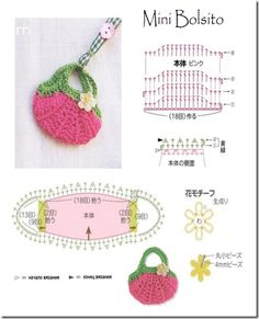 patron minibolsito crochet Más