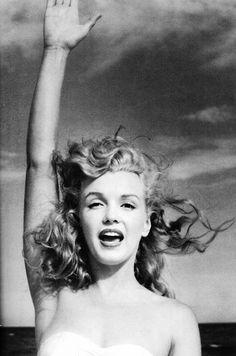 Marilyn Monroe by Andre de Dienes. Tobey Beach, 1949