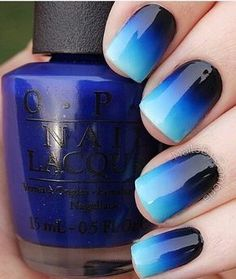 25 Ideas to Paint Your Blue Nails for Fall #beautynails