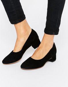 Image 1 of Vagabond Jamilla Black Suede Block Heel Shoe