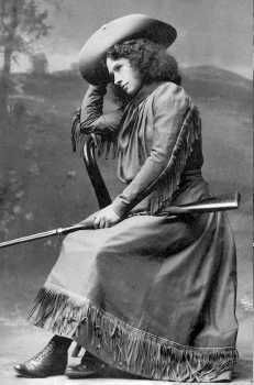 Lovely Vintage Photo: Annie Oakley  (but TalibanColin might have found some ankle showing... BAN BAN BAN!!)